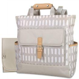 12 Bulk Baby Essentials Tote Convertible Backpack Grey