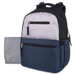 12 Bulk Baby Essentials Diaper Backpack - Navy
