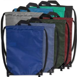 48 Bulk Kids 15 Inch Drawstring Bag 8 Colors