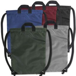 48 Bulk Kids 15 Inch Drawstring Bag 5 Colors