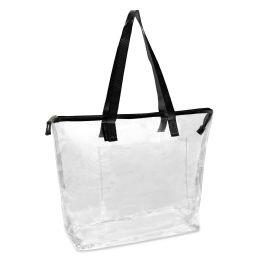 24 Bulk Clear Tote Bag In Black