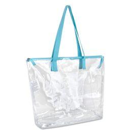 24 Bulk Clear Tote Bag In Blue