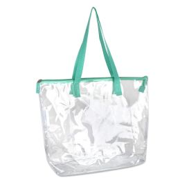 24 Bulk Clear Tote Bag In Green