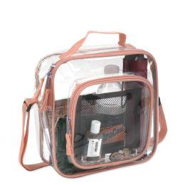 24 Bulk Clear Toiletry Bag In Peach