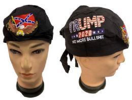 24 Bulk Wholesale No More Bullshit Skull Caps Eagle Rebel Embroidery