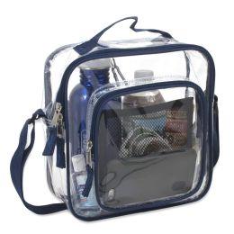 24 Bulk Clear Toiletry Bag In Navy