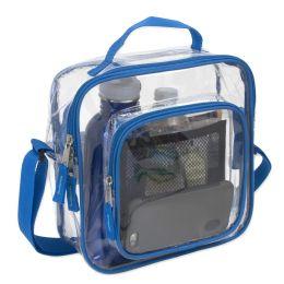 24 Bulk Clear Toiletry Bag In Blue