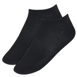 120 Bulk Men's Cotton Ankle Socks Black Only