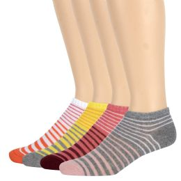 120 Bulk Women's Cotton Striped Ankle Socks