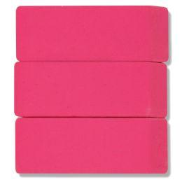 96 Bulk 3 Pack Pink Eraser