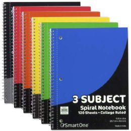 36 Bulk 3 Subject Notebook College Ruled 120 Sheets
