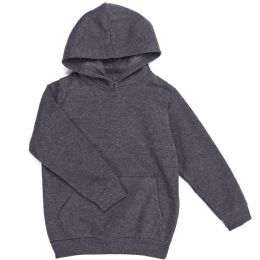 12 Bulk Boys Long Sleeve Sherpa Lined Hoody Sweater In Dark Grey Color