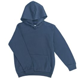 12 Bulk Boys Long Sleeve Sherpa Lined Hoody Sweater In Navy Color