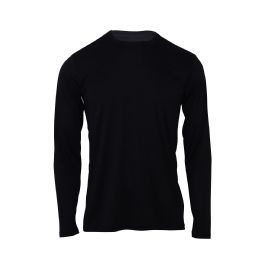 60 Bulk Mens Base Layer Crew Neck Long Sleeve Shirt Plus Size In Black