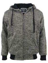 12 Bulk Mens Marled Zip Up Fleece Lined Hoody Plus Size In Olive