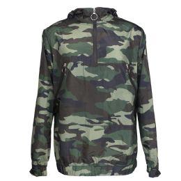 12 Bulk Mens Camouflage Waterproof Pullover Jacket
