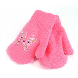 48 Bulk Kids Mitten Studded Prints