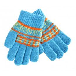 72 Bulk Kids Winter Knitted Gloves