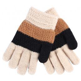 72 Bulk Kids Gloves Color Stripes