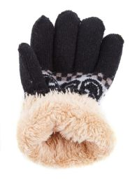 48 Bulk Kids Gloves With Fur