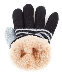 48 Bulk Kids Gloves With Fur Lining