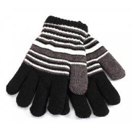 48 Bulk Kids Gloves Striped