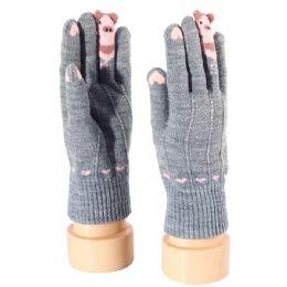 48 Bulk Kids Gloves Animal Print