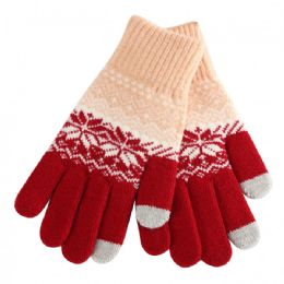 48 Bulk Ladies Winter Touch Screen Gloves