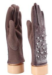 36 Bulk Ladies Gloves With Pearls