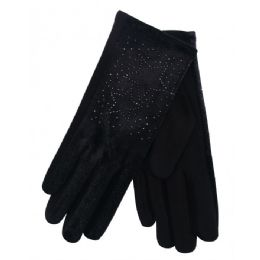 36 Bulk Ladies Winter Glove With Star