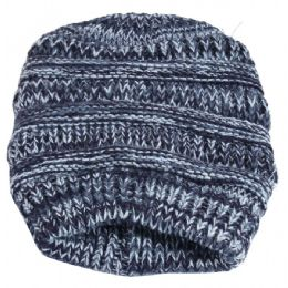 36 Bulk Women's Villi Lined Twist Pattern Knitted Hat Lined