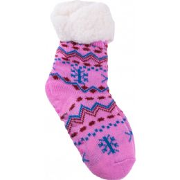 36 Bulk Girls Room Socks Fur Lined