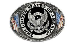 24 Bulk The United State Of America Seal Belt Buckle