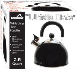 8 Bulk Stainless Steel Whistling Tea Kettle Black