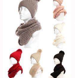 24 Bulk Womens Beanie Hat And Scarf Set Cute Winter Ski Hat Slouchy