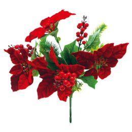 32 Bulk Xmas Poinesettia With Berry Plant