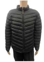 24 Bulk Men's Winter Black Bubble Jacket