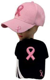 24 Bulk Breast Cancer Awareness Ribbon Hat