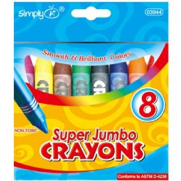 96 Bulk 8 Color Jumbo Crayon