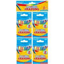 96 Bulk 4 Sets Color Premium Crayon