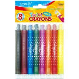 96 Bulk 8 Color Mini Twist Crayon