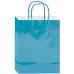 120 Bulk Everyday Gift Bag Aqua Size Large