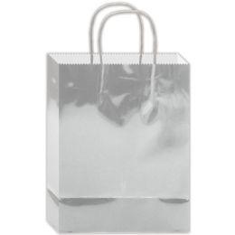 180 Bulk Everyday Gift Bag Silver Size Medium