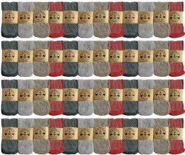 48 Bulk Yacht & Smith Womens Thermal Gripper Bottom Winter Socks, Warm Cold Resistant Bulk Pack