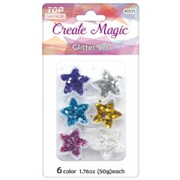 96 Bulk Craft Glitter Set
