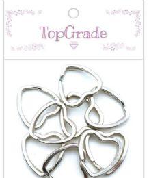 96 Bulk 12 Count Ring Silver Heart Shape