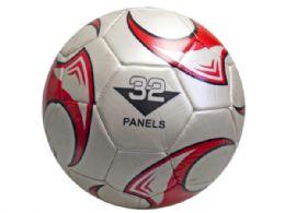 12 Bulk size 5 soccer ball with red wheel design