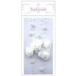 96 Bulk Pear Garland In White