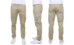 24 Bulk Flex Cotton Stretch Cargo Pants Slim-Fitting Cargo Pants Khaki