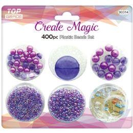 96 Bulk 400 Beads Set In Purple